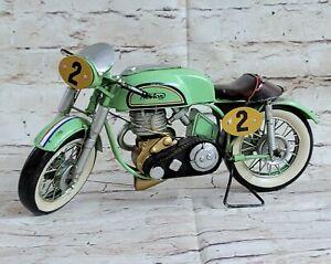 1962 Norton Jubilee Classic British Motorcycle Motorbike Metal Figurine Deco Art