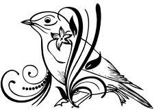FLORAL BIRD DECAL STICKER
