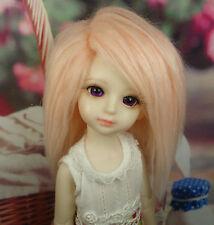 "5-6"" 14cm BJD doll fabric fur wig Smoke Pink wig bjd hair for 1/8 bjd dolls"