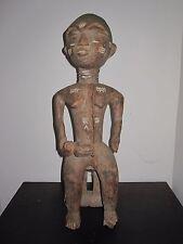 Antique Fine African Sculpture Mother Child Primitive Art Museum Deaccession Il