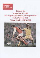 GRAHAM RIX ARSENAL 1976-1988 ORIGINAL HAND SIGNED ANNUAL CUTTING