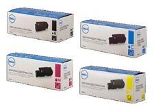 4 x Original Toner Dell C1660 C1660w/4G9HP Dwgcp V3W4C V53F6 Cartridges Set