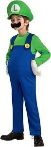 Super Mario Bros Party - Luigi Deluxe Child Costume - Various Sizes Available