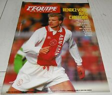 EQUIPE MAGAZINE N°578 1993 FOOTBALL AJAX REAL MADRID BERGKAMP AUXERRE PSG RUGBY