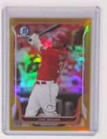 2014 Bowman Chrome #125 Jay Bruce Refractor Orange Border 15/50 Cincinnati Reds