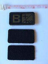 Tactical Blood Type Embroidered Velcro Patch: B Positive  (B+)