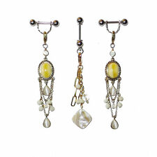 Pierced Nipple Charms with VCH Piercing Jewelry or Nonpiercing Clit Clip Set