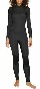 NWT 180$ Billabong  SYNERGY 3/2 mm Chest Zip Fullsuit WETSUIT Long Black