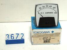YOKOGAWA AMMETER, DC 0-600 AMP, 3.5INCH, P/N 951280 (3672)