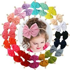 20 Pcs Nylon Headbands Hairbands Big Hair Bow Elastics for Baby Girls Newborn