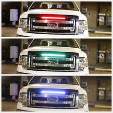 """7 Color 48 SMD Scanning LED 22"""" Car Hood Grilles Bumper Knight Rider Strip Light"""