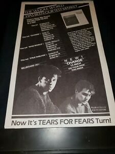 Tears For Fears Change Rare Original Radio Promo Poster Ad Framed!