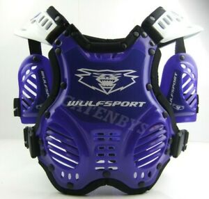 Kids Youth 3-8 Wulfsport Body Armour Stone Deflector Protector Motocross Quads