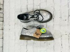 NEW Dr Doc Martens Pascal Met Silver Snakeskin Pattern Lace Up WOMEN'S SIZE 5
