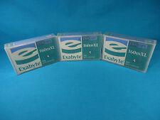 Lot - 3x Exabyte 160mXL Exatape Data Cartridges - 8mm Tape Drive - New