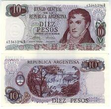 ARGENTINE billet neuf de 10 pesos  BELGRANO Pick295 CASCADE IGUAZU  C 1973