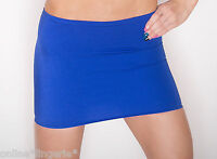 MINI SKIRT SIZE 6-8 BLUE ROYAL STRETCH LYCRA BODYCON PARTY CLUB SHORT TIGHT S55