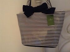 $275 KATE SPADE OCEAN DRiVE TRACY Bow BLaCK STRiPE PURSE Mother's Day