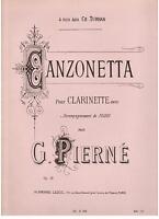 Gabriel Pierné: Canzonetta Für Klarinette Begleitet Vom Klavier - Leduc