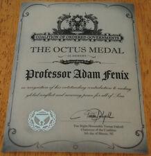 NEW! Gears of War 3 Adam Fenix OCTUS MEDAL Award Certificate for HAMMER OF DAWN