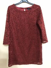 Forever 21 red short lace dress size Medium.