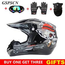 S-XL Motocross Off-Road Racing ATV Dirt Bike Protector DOT Helmet Goggles Gloves
