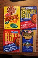 Fleer Basketball Vintage 4 Pack Lot-1990-91,1991-92 Low & Update & 1992-93 Ser 2