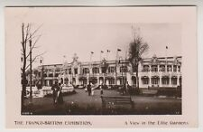 Franco British Exhibition, London 1908 postcard - View in the Elite Garden - RP