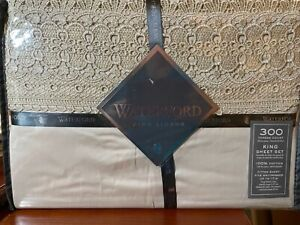 NEW Waterford Lismore Lace TAUPE 4 pc KING SIZE SHEET SET - FINE LINEN - NEW
