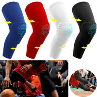 Adult/Kids Compression Honeycomb Sleeve Knee Support Brace Knee Pads Basketball