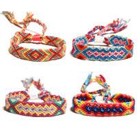 Pretty Braided Woven Thread Colorful Friendship Handmade Rope Bohemian Bracelet