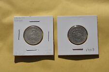 Peru  Lot Of 2 Coins  1/5 Sol  1900 1908  Silver