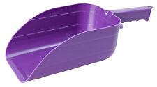 Little Giant Utility Feed Scoop Plastic Finger Grips Hanging Eyelet 5pt Purple