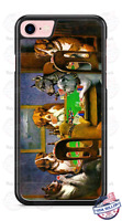 Dogs Playing Poker Funny Design Phone Case for iPhone Samsung Google LG etc