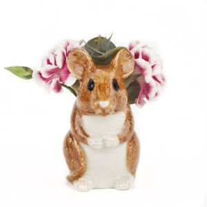 Quail Ceramics   Bud Vase A Wood Mouse.