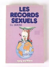 Les Records Sexuels Guy Authier Simons 1978 Sexual Records in French sex book