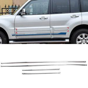 For Mitsubishi Pajero V80 2007-2021 Car Side Door Body Molding Protector Trim