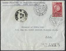 VIETNAM 1958 US SAIGON DATED 30 5 058 AIR MAIL W/ SPECIAL CANCELATIONS NGAY PHAT