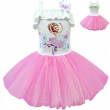 Fancy Nancy Kids Girls Sleeveless Tutu Dress Cosplay Lace Princess Dresses Party