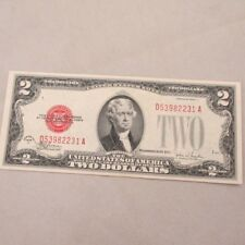 1928 F Red Seal United States Two Dollar Note 600907
