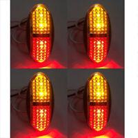 Waterproof 4LED Side Marker Tail Light Trailer Truck Lamp Fog Lights 12/24V Lamp