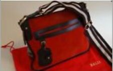 Rare Red Suede Genuine Bally Crossbody Bag Cost £595 Used