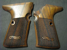 Walther P5 COMPACT English Walnut Chkrd/BannerLogo Pistol Grips SIDE MAG RELEASE