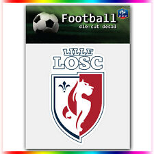 "LOSC Lille UEFA Die Cut Vinyl Sticker Car Bumper Window 4""x2.4"""