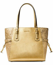 NWT MICHAEL Michael Kors Voyager Tote Bag Gold FACTORY SEALED PACKAGE