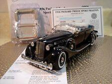 New ListingDanbury Mint 1936 Packard Twelve Sport Phaeton.1:24.Nos.Docs.Und isplayed.Rare