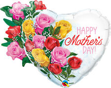 """MOTHER'S DAY PARTY SUPPLIES 35"""" MOTHER'S DAY ROSE BOUQUET QUALATEX FOIL BALLOON"""