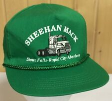 Mack Trucker Hat Single Stack Green SnapBack Sheehan Sioux Falls Rapid City SD