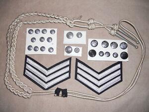 Police items. Lanyard Chevrons Buttons Stockport Hertfordshire Metropolitan