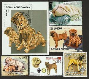 SHAR PEI ** Int'l Dog Postage Stamp Art Collection ** Great Gift Idea **